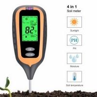 Прибор для анализа почвы 4 в 1 KC-300 New (pH-метр, влагомер, термометр, люксметр)