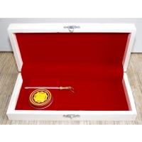 Деревянная подарочная коробка с мусатом и смазкой Laguiole Bougna 1900
