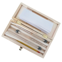 Набор ареометров с термометром (3+1 шт) 0-100 % в деревянной коробке